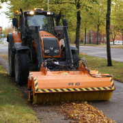FMG Bucket street sweeper with tractor